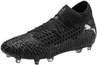 Future 4.1 Netfit FG/AG Men's Soccer Cleats, 9.0 M, Black-Black-Puma Aged Silver