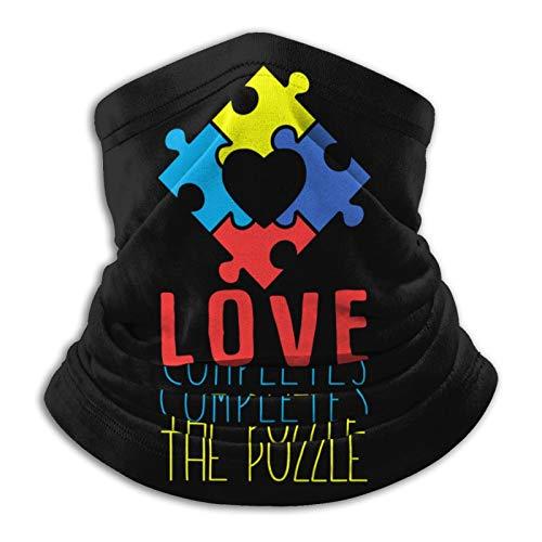 fuwahahah Love Completes The Puzzle Polaina de cuello de microfibra multifuncional a prueba de polvo, pasamontañas, bandanas, calentador de cuello bufanda para clima frío deportes al aire libre