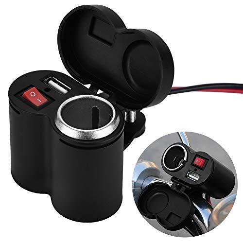 Cargador de teléfono USB para motocicleta, cargador USB duradero para motocicleta, alto rendimiento de 12-24 V para motocicletas, suministro de energía para teléfonos móviles, automóviles,