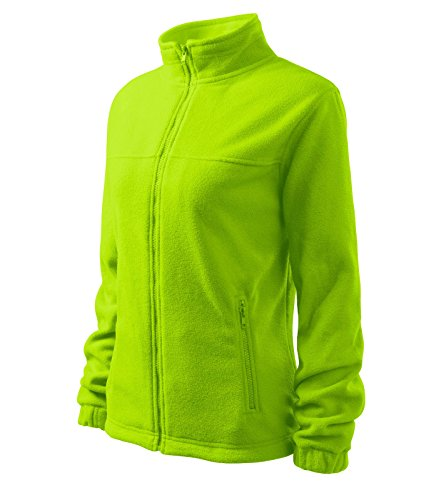 Damen Fleece Jacket Hochwertige Fleecejacke Anti-Pilling (S, zitrongrün)