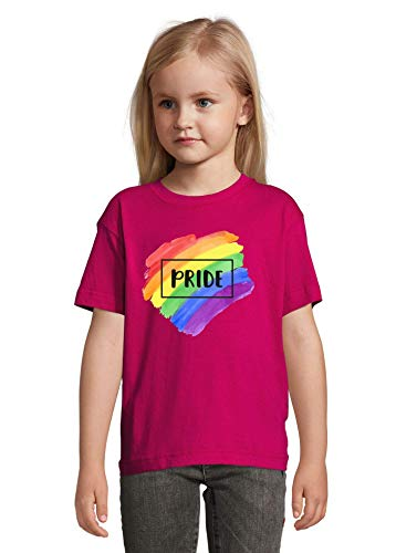 Iprints LGBT T-shirt Rainbow Pride Paint Graphic Colorful Kids