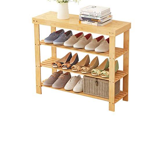 JUNYYANG Rack de Zapatos Zapato Moderno Simple Economía Inicio Plataforma compartida de Tres Pisos Zapatero Foyer Porche Soporte del Zapato Estante del Zapato 70x28x70cm