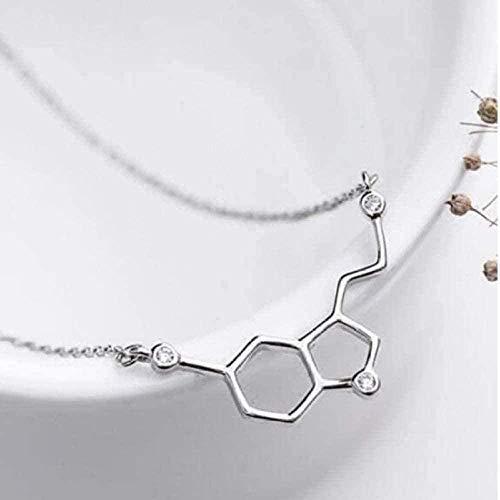 YOUZYHG co.,ltd Collar Collar de Personalidad Collar de joyería de geometría con Colgante Hexagonal de Panal No alérgico