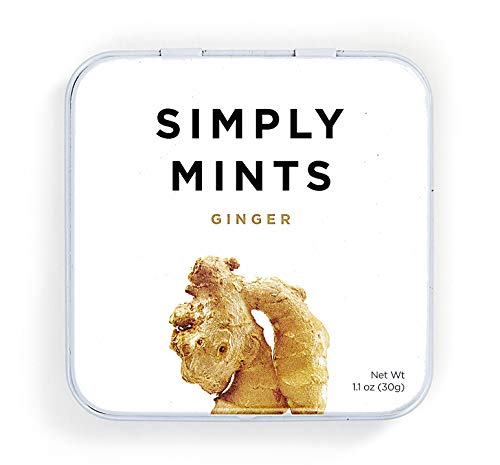 Cute item to add to first trimester care packageSimply Mints | Natural Ginger Breath MintsMade With Real Ginger, Good for Nausea