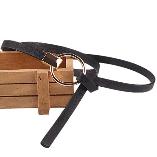 Licogel Elegant Lightweight Stretchy Decorative Skinny Belt Faux Leather Casual Adjustable Fashion Thin Dress Belt for Girl