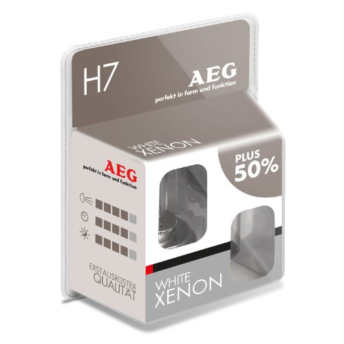 AEG Automotive 97264 Glühlampe White Xenon H7, 55 W, 2-er Set