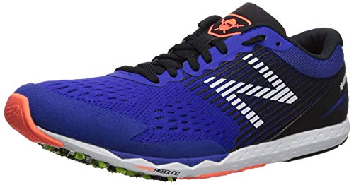 New Balance Men's Hanzo V1 Running Shoe, uv Blue/Black/Dark Mango, 7.5 D US