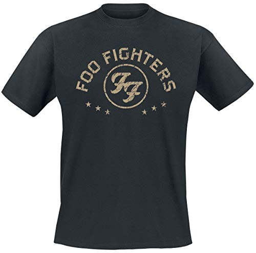 Foo Fighters Arched Star Männer T-Shirt schwarz M 100% Baumwolle Band-Merch, Bands