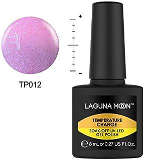 Lagunamoon Esmaltes Semipermanentes, Uñas de gel UV LED Camaleón Cambia de Color con la Temperatura
