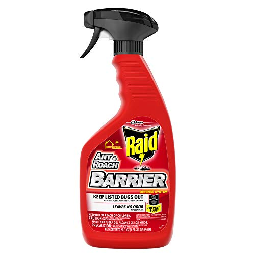 Raid Ant & Roach Barrier Spray, Killer for Listed Bugs,...