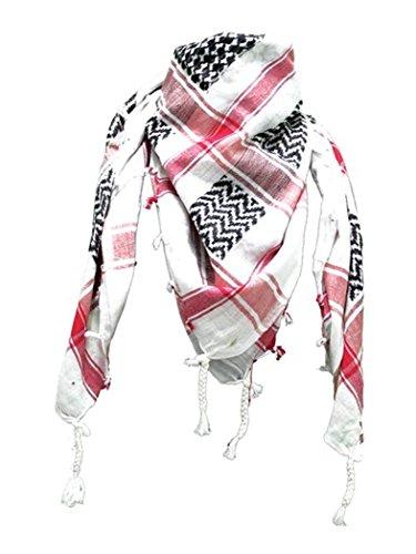 ^Pañuelo palestino, blanco, rojo y negro