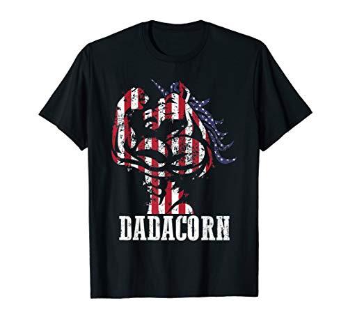 Dadacorn All American Dad Daughter July 4th Patriotic USA T-Shirt
