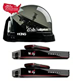 RV Wholesale Direct King Dish DTP4900 Tailgater PRO Premium Satellite TV Antenna w/ 2 Wally Receivers