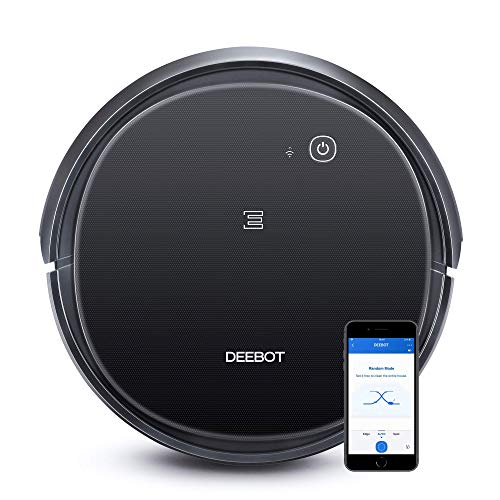 ECOVACS DEEBOT 500 Robotic Vacuum Cleaner with Max Power Suction, Up to 110 min Runtime, Hard Floors & Carpets, App Controls, Self-Charging, Quiet (Renewed)