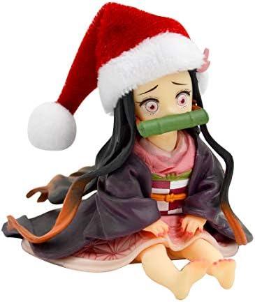 Kamado Nezuko Car Dashboard Doll Figurine Cute Car Interior Display Home Office Decoration Ornaments Anime Demon Slayer Kimetsu No Yaiba PVC Action Figure Model Toy