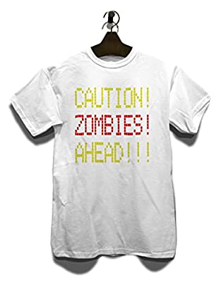 Caution Zombies Ahead T-Shirt - Différentes Couleurs / Tailles