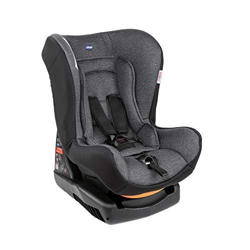 Chicco 07079163500000 - Chicco Cosmos - Silla de coche reclinable para bebés de 0-18 kg, grupo 0+/1 para niños de 0-4 años, cojín reductor para bebés, acolchado suave, color gris (Ombra), unisex