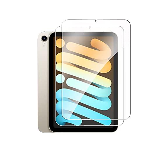 2枚Goevce For iPad Mini 6 2021 フィルム 日本旭硝子素材 ガラスフィルム 硬度9H 厚さ0.26 気泡ゼロ 指紋防止 飛散防止 保護フィルム 高感度 高透過率 衝撃吸収 2.5D iPad mini6 専用