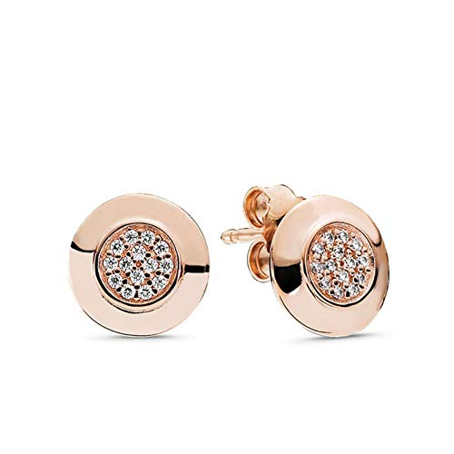 2021 Fashion 100% 925 Sterling Silver Pink Daisy Flower Stud Women Anniversary Engagement Jewelry Gift-040