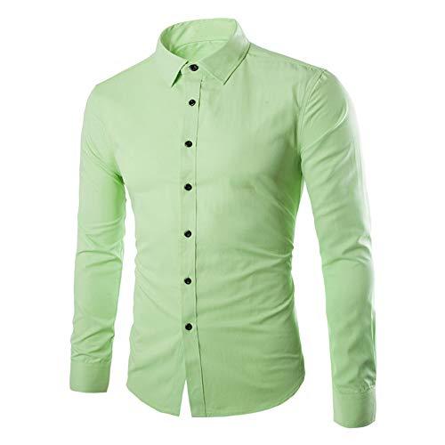 Herren-Hemd Slim-Fit Langarm Hemden Freizeit Business - Core Stretch Slim Shirt Freizeithemd 2020 neues Hochzeitsbankett-Geschäftshemd XL