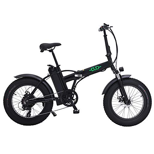 GUNAI Bici Grassa Elettrica 48V15AH 500W Motore 20 Police Ebike Bici 7 velocità Mountain Bike Pieghevole a Doppia Sospensione Display LCD