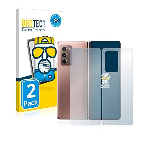 BROTECT Full-Cover Schutzfolie Matt kompatibel mit Samsung Galaxy Z Fold 2 5G (Vorder + Rückseite) (2 Stück) - Full-Screen Bildschirmschutz-Folie