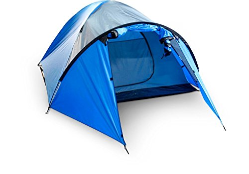 Camptent Scape 3 - blauw/donkergrijs/antraciet