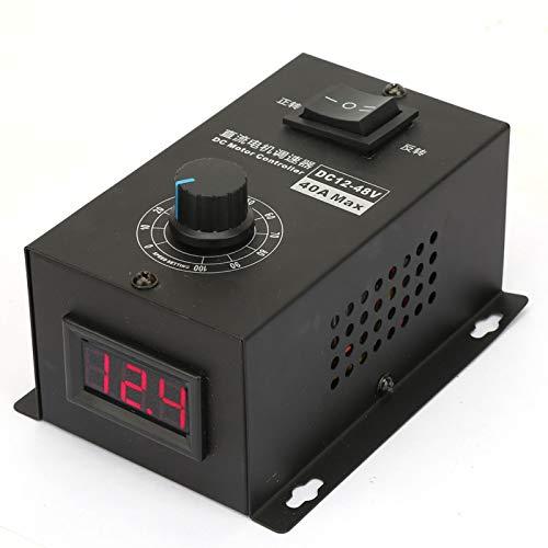 Gobernador con interruptor y perilla Controles del motor del cepillo Controles del controlador del motor Control de velocidad del gobernador para PWM 12V ~ 48V 40A Motor del cepillo para