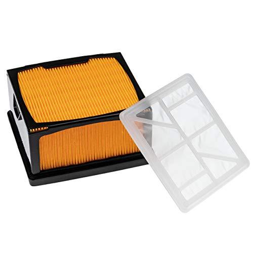 vhbw Set de filtros (1x filtro de nailon, 1x filtro de vellón) compatible con Husqvarna/Partner K 760 radial, esmeril