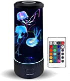 Lámpara de Lava de Medusa - Acuario eléctrico Regulable con luz LED Que Cambia de Color de Humor, Regalo para niños,decoración de Escritorio para la Oficina en casa, con Control Remoto
