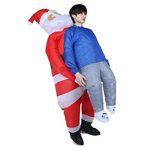 Shipenophy Disfraz de Disfraz Inflable de Dibujos Animados cmodo para Festivales para Celebraciones de Empresa(Christmas Hug X120)