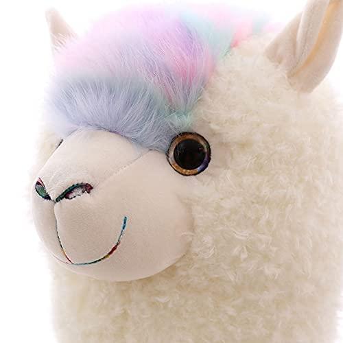 Fantasy Alpaca Pillow Alpaca Pillow Doll Sofa Pillow Back Cojín Llama Plush Long Body Pillow Navidad, cumpleaños, día de San Valentín y otros regalos navideños (70 / 100cm)(Color:White,Size:46cm)