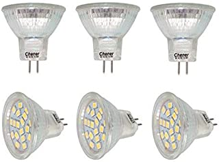 MR11 GU4 Base LED,6 Pack,Halogen Replacement Spotlight G4 Bulb,AC/DC10-30V,3W(25W Equivalent),Warm White,Safety Protection Glass Cover,Chener