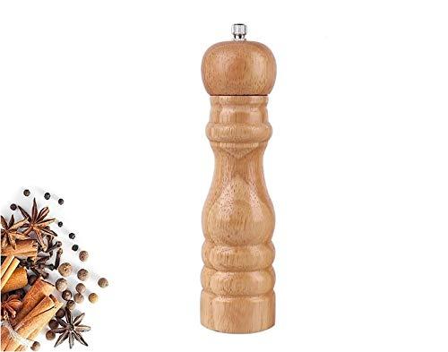 Savna Pfeffermühle Salzmühle Gewürzmühlen Salt Pepper Mill Grinder aus Holz für küche/BBQ/Picknick/Restaurant 8 Zoll