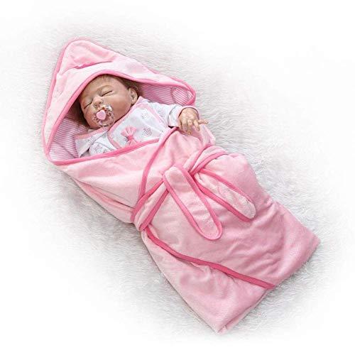 Y DWAYNE Muñeca de Renacimiento de bebé de simulación de plástico Completo, Juguetes de casa de Juegos para niños Que se Pueden bañar en Agua, muñeca de plástico Suave de 57 cm