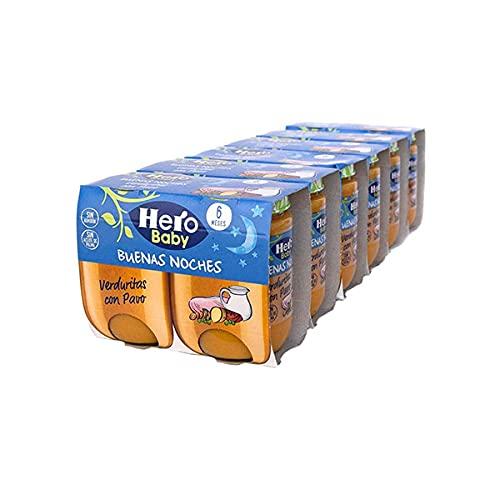 Hero Baby Tarritos de Verduritas con Pavo - Para Bebés a Partir de los 6 Meses - 6 Packs de 2 x 190 gramos