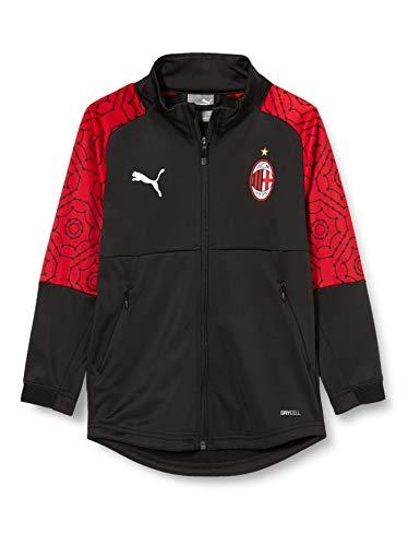 PUMA Stagione 20/21 AC Milan Stadium Home Jr, Giacca della Tuta Unisex-Adulto, Black-Tango Red, 176