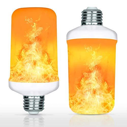 YING E27-LED-Leuchtmittel, Flammen-Effekt, 4 Modi, flackernde Flamme, dekorative Lampe für Weihnachten, Halloween, Haus, Hotel 2pcs