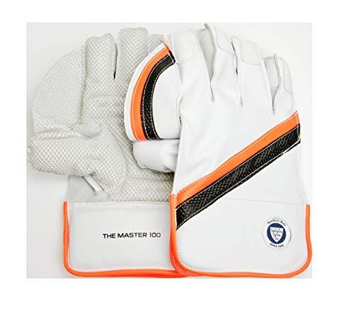 Newbery Cricket Master 100 Wicket Keeping Gloves, weiß, erwachsenengröße