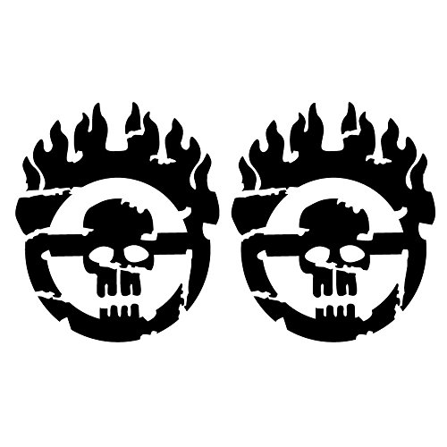 Mad Max Fury Road Grunge Style 2 Mini Size Individual Warboy Symbol Decals 5 Year Outdoor Premium Vinyl - Two Kits - Black