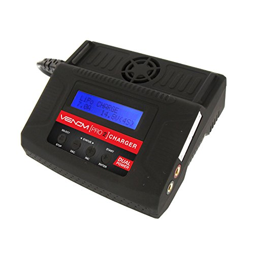 Venom Pro 2 LiPo Charger | AC DC NiMH and Lithium Battery Charger Discharger | with XT60, HXT, Traxxas to EC3, JST, Deans Connector, Alligator Clips, Tamiya Charger for Your RC Battery Charger Needs