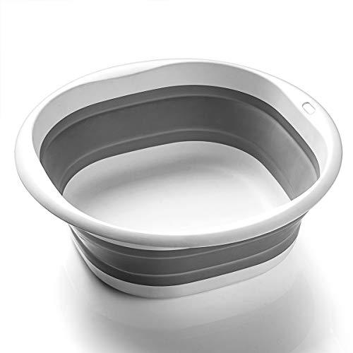 SOLPEX 折りたたみ 洗面器 湯おけ 抗菌 洗い桶 風呂 桶 シリコン キッチン 収納 省スペース 旅行に持つ 洗濯 掃除 足浴 浸け置き 洗い持ち運び 内外に適用 多機能 安全素材 角形 一年間品質保証(3サイズ)(Sサイズ)