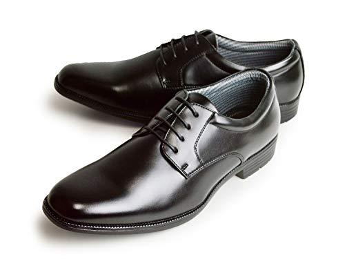 [ケンコレクション] ビジネスシューズ 防水 メンズ 革靴 レインシューズ ローファー フォーマル 防滑 屈曲 紳士靴 脚長 ストレートチップ プレーントゥ Uチップ 靴 メンズシューズ 【A】プレーントゥ 28cm