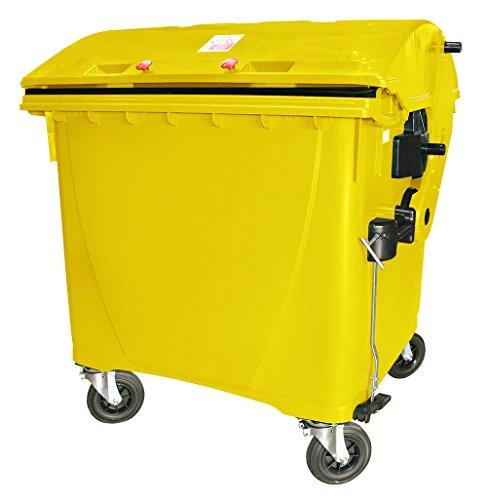 1100 Liter Großmüllbehälter / Müllcontainer nach EN 840, MGB gelb