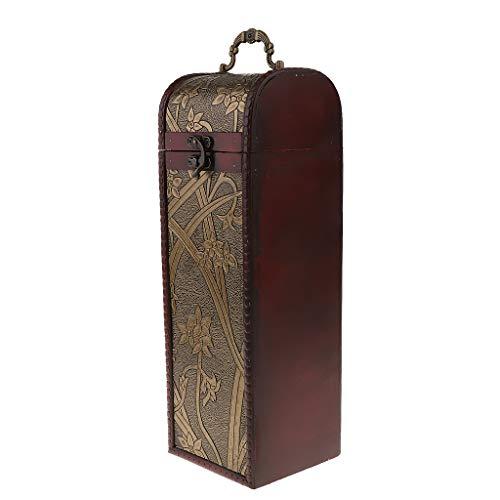 B Blesiya - Caja de madera para botellas de vino
