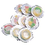 Amosfun 10pcs Condoms Flower Lubricated Granular Latex Intimate Goods Safe Contraception Condoms for Adults Male Men
