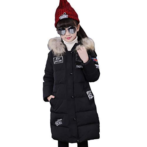 Glaiidy Chaqueta De Invierno para Niñas Chaqueta De Invierno Niños Chaqueta Acolchada Abrigo Relleno De Algodón con Capucha De Piel Moda 2019 Ropa De Mujer