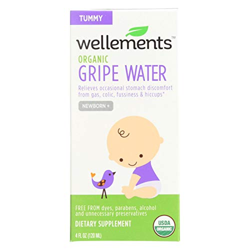 2 Pack of Wellements Organic Gripe Water for Tummy, 4 Fl Oz (Packaging...