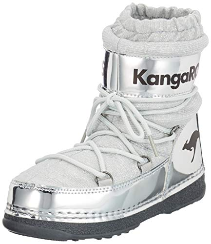 KangaROOS Unisex-Kinder K-Moon Schneestiefel, Gelb (Silver 9900), 30/31 EU