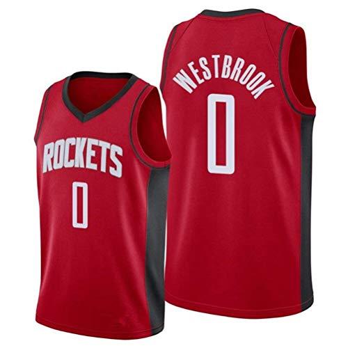 Rencai Russell Westbrook # Baloncesto Jersey Nueva Calidad Tela Gran 0 Houston Rockets Multi-Estilo (Color : 7, Size : XS)